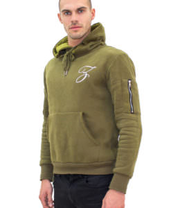 Olive Hoodie Right Side