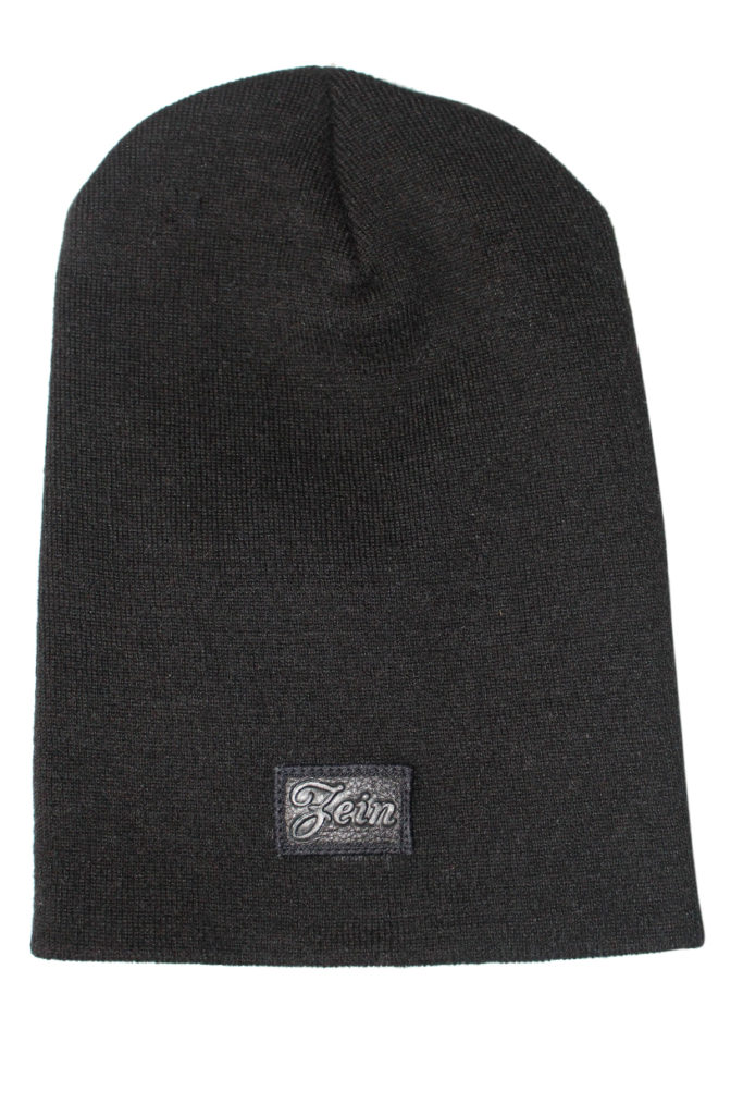 4e6d23c8fbc Long Leather Box Logo Beanie - Black