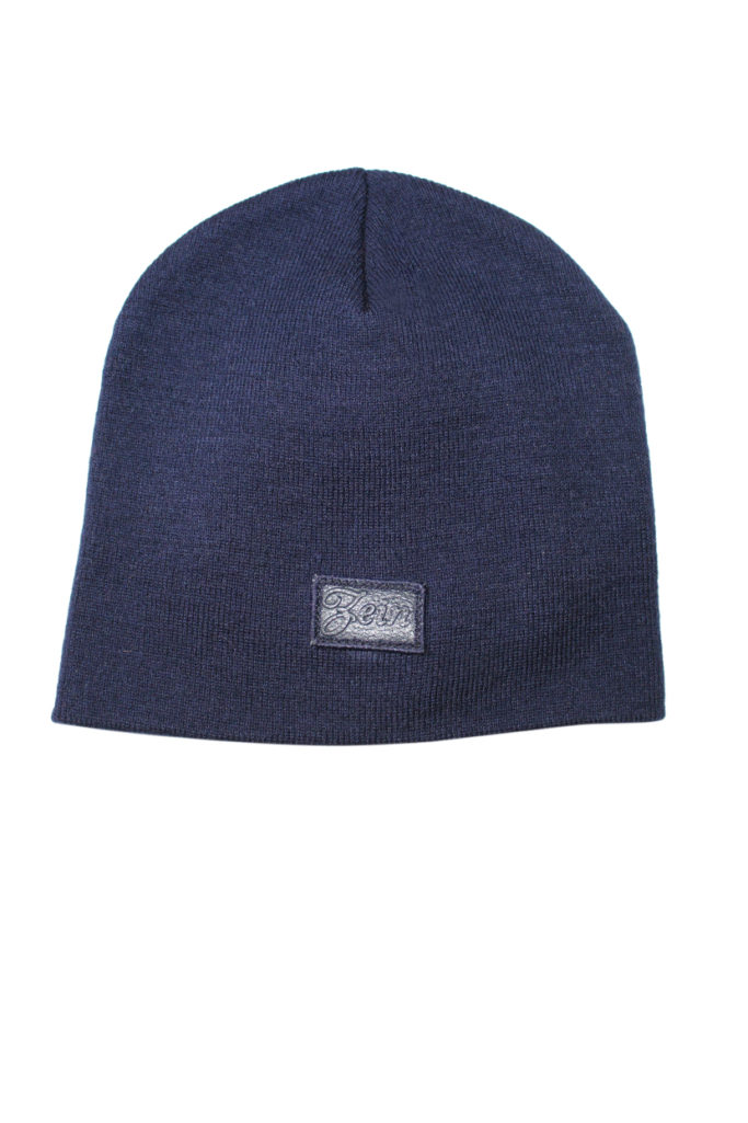292127971a8 Regular Leather Box Logo Beanie - Marine Blue