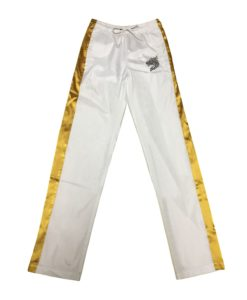 Zein gold stripe windbreaker pants front